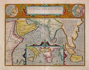 "Mapa de Abraham Ortelius, Ámsterdam 1597 donde se representa la ""Hyper Borei"", zona que ocupa toda el área polar"