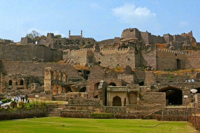 Golconda Fort - One of the most famous and the biggest fortress in the Deccan plateau of India