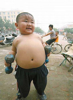 Chinese Baby Bodybuilder
