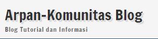 Arpan-Komunitas Tempat Mencari Informasi