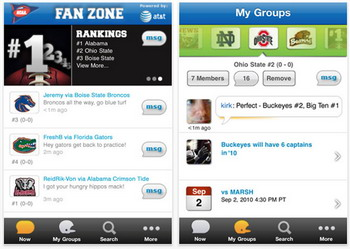 AT&T and NCAA release NCAA Football Fan Zone iPhone App