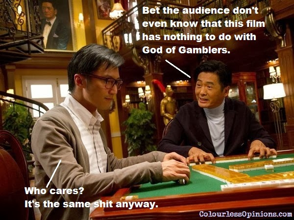 From Vegas to Macau still meme - Nicholas Tse & Chow Yun Fat mahjong