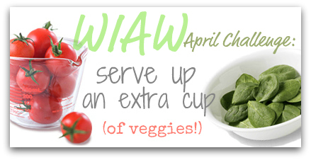 wiaw+serve+up+an+extra+cup+button WIAW   Meal Change and Lentil Patty Recipe!