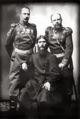 G.E. Rasputin amb el general-major conde Putiatin M.S. i el coronel Loman D.N. 1904-1905