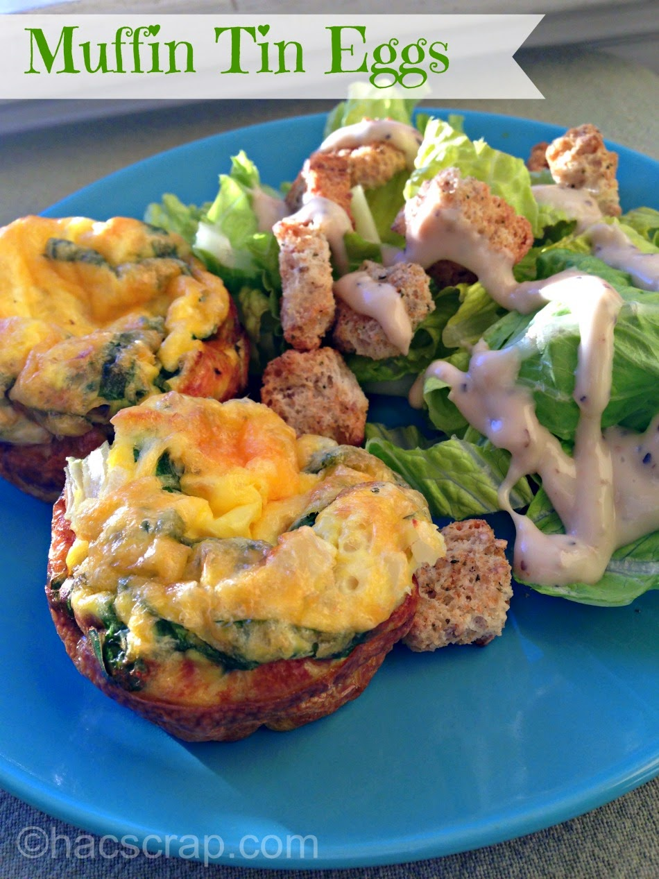 It's easy to make a quick and healthy dinner with eggs in a muffin tin