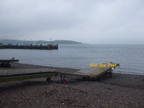 Largs Pier & Great Cumbrae in Distance