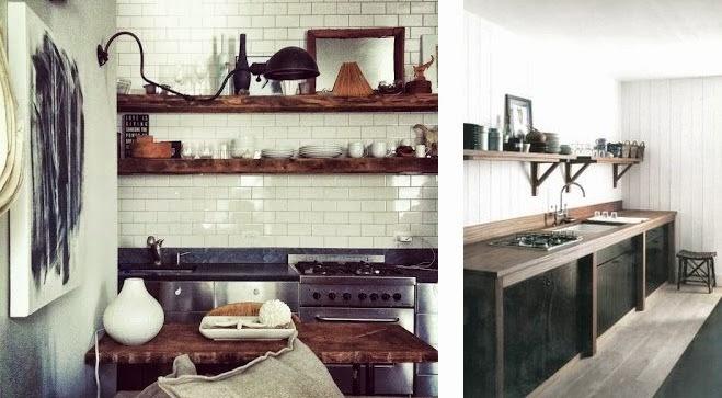 Regardsetmaisons r flexion en bois et noir pour une for Petite cuisine noire et blanche