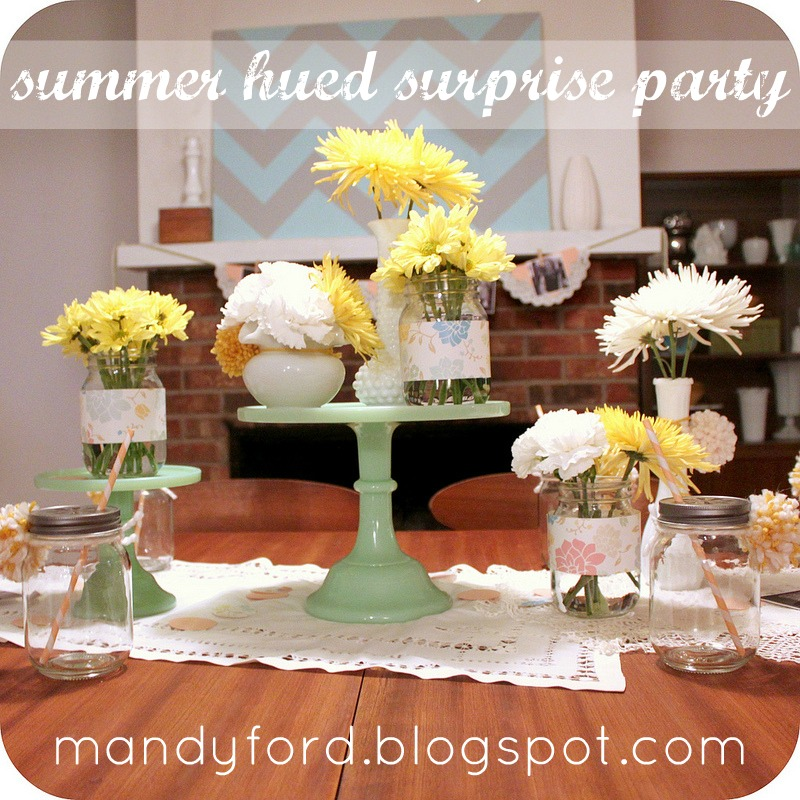This Girl's Life: {summer hued surprise party