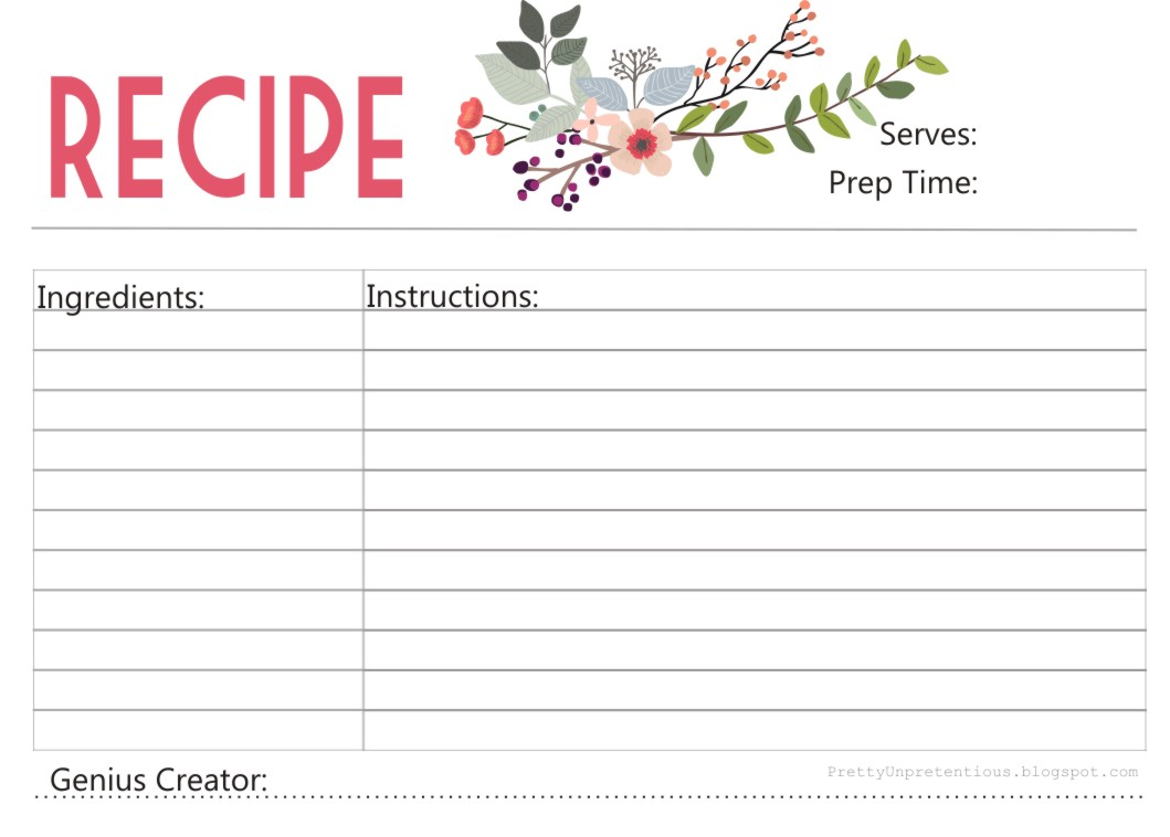 This is a picture of Nerdy Printable Recipe Card