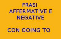 10 FRASI SEMPLICI IN INGLESE CON GOING TO NELLA FORMA AFFERMATIVA E NEGATIVA