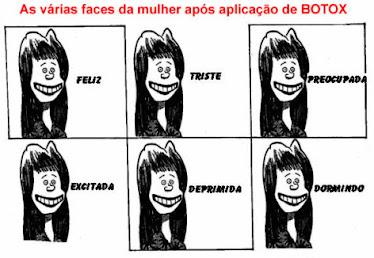 As expressões faciais depois do botox