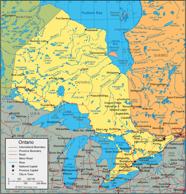 a geography of ontario An historical geography of ontario school-board-operated outdoor education centres by james borland a dissertation submitted to the faculty of graduate studies.