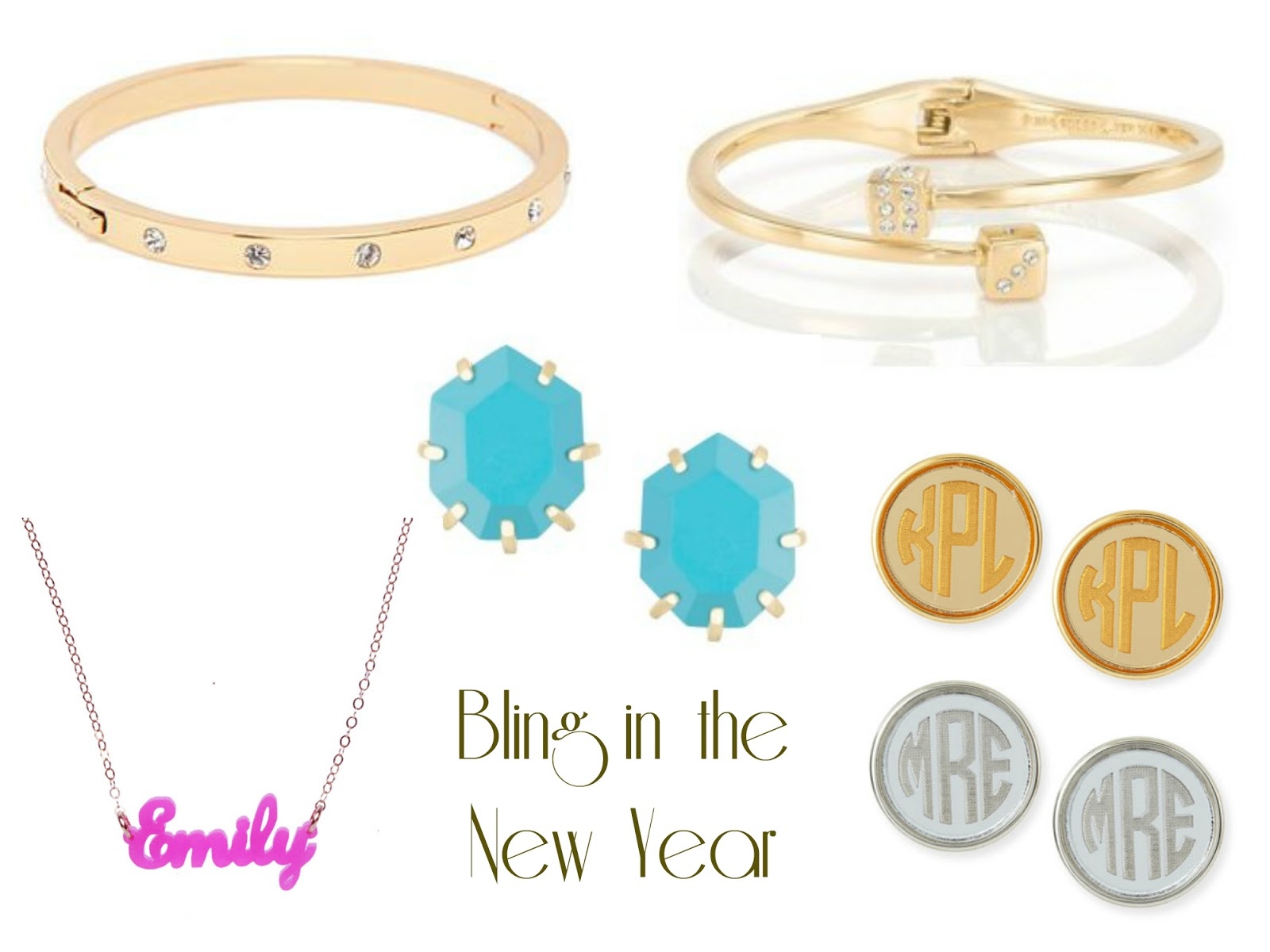 Kendra Scott Kate Spade Moon And Lola Monogrammed Earrings On Sale Bling In  The New Year