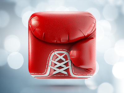Boxing glove icon, Ramotion