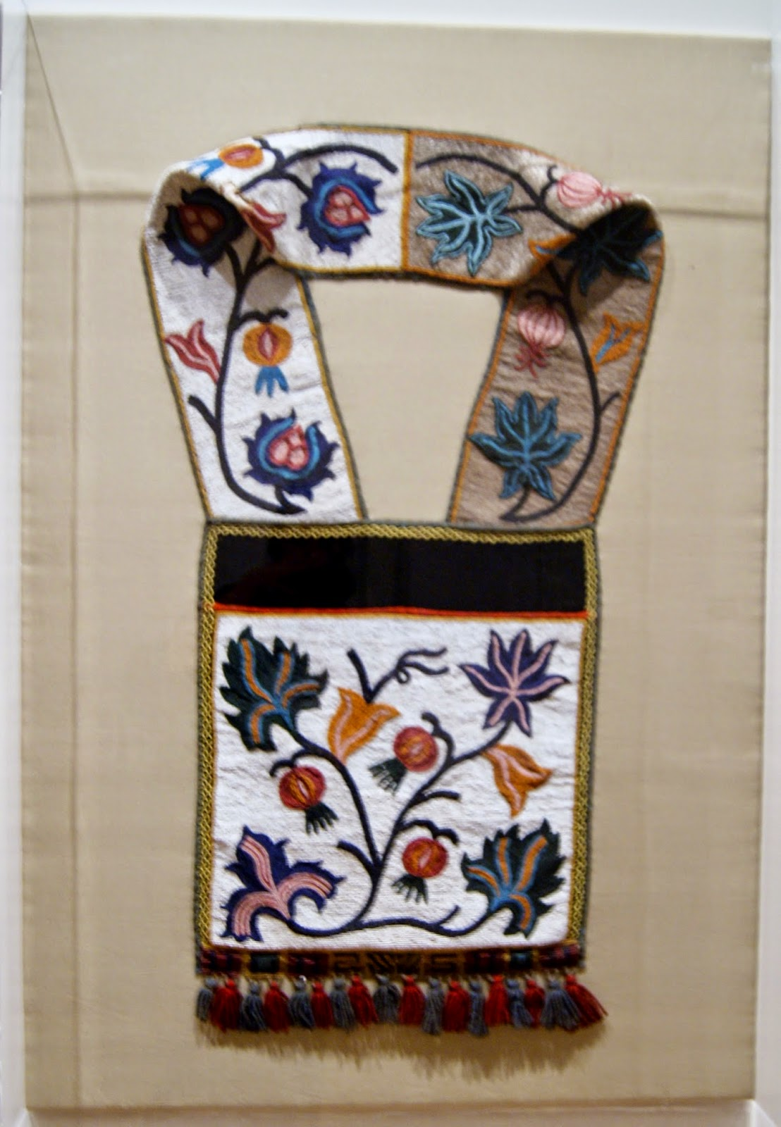 Before and after the Horizon: Anishinaabe Artists of The Great Lakes Exhibition at The Art Gallery of Ontario in Toronto, Culture, Native, Aboriginal, History, Ontario, Canada, The Purple Scarf, Melanie.Ps, Bandolier Bag, Unknown