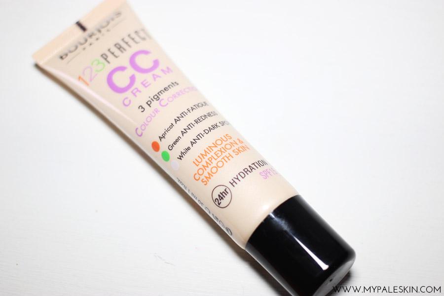 Bourjois 123 perfect CC Cream, Pale Test, Swatch, My Pale Skin, Ivory, Shade 31