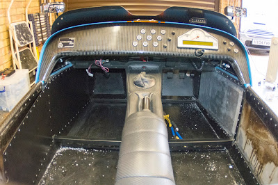 Passenger side interior panel half removed