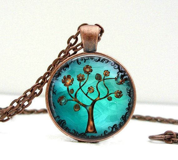 Amazingly Gorgeous Copper Tree Necklace