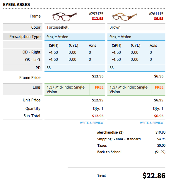 Great website for inexpensive prescription glasses