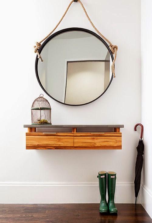 Feng Shui Entrada Baño:Espejos redondos en el Feng Shui
