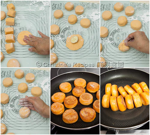 香蕉番薯餅製作圖 Sweet Potato Cakes with Banana Fillings Procedures02