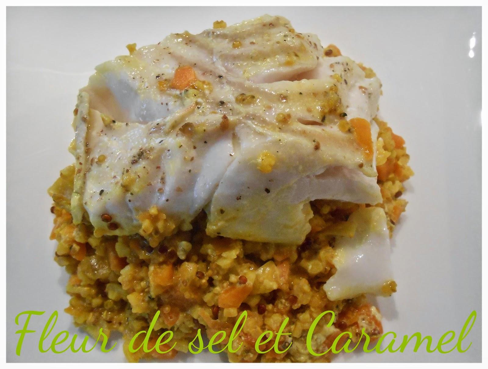Couscous de quinoa-boulgour de poisson