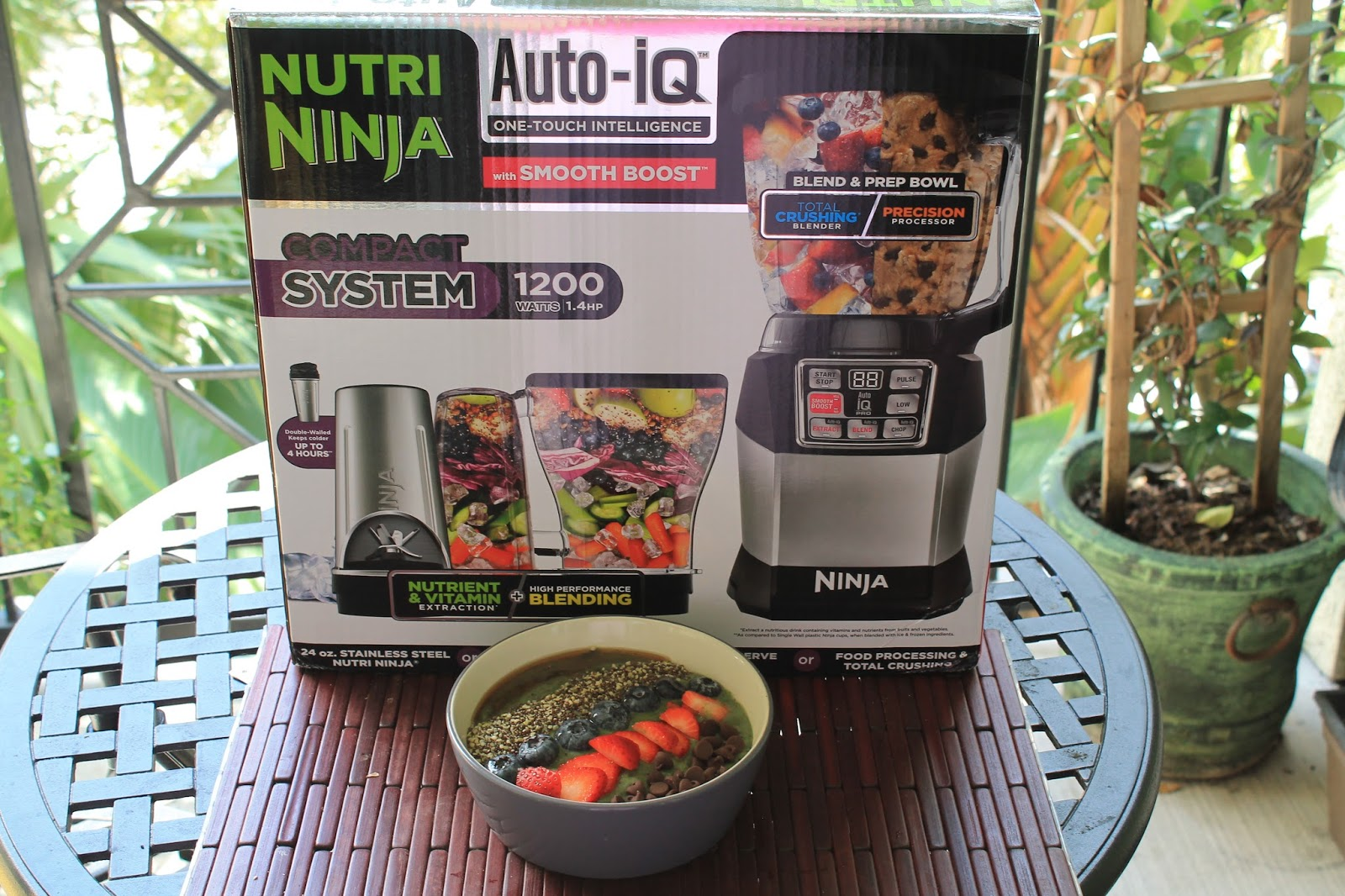 Nutri ninja blender system with auto iq technology - Nutri Ninja Auto Iq Compact System Now Includes Smooth Boost Technology Allowing You To Truly Customize Your Drink Making Experience Whether You Re