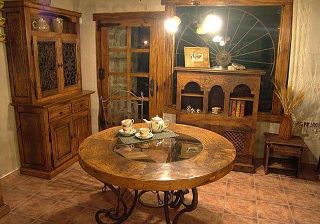 decoración muebles de roble