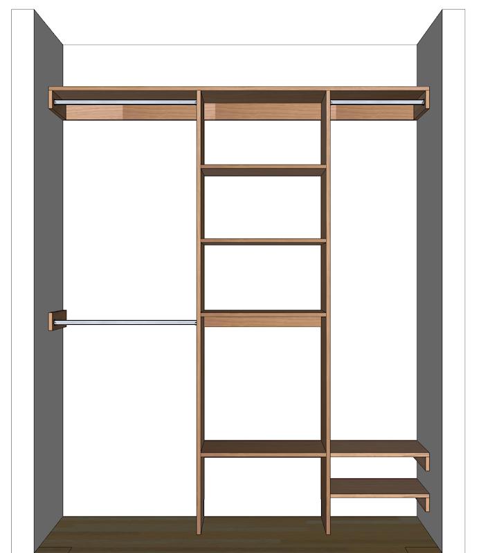 Closet Organizer Shelves