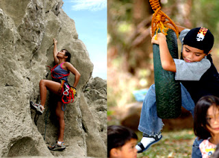 Rock Climbing at Forest Farms Angono at Havila