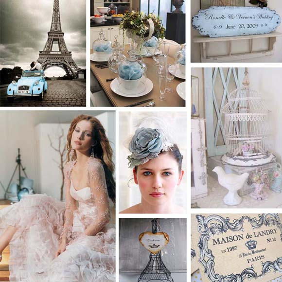 Vintage french blue pictures
