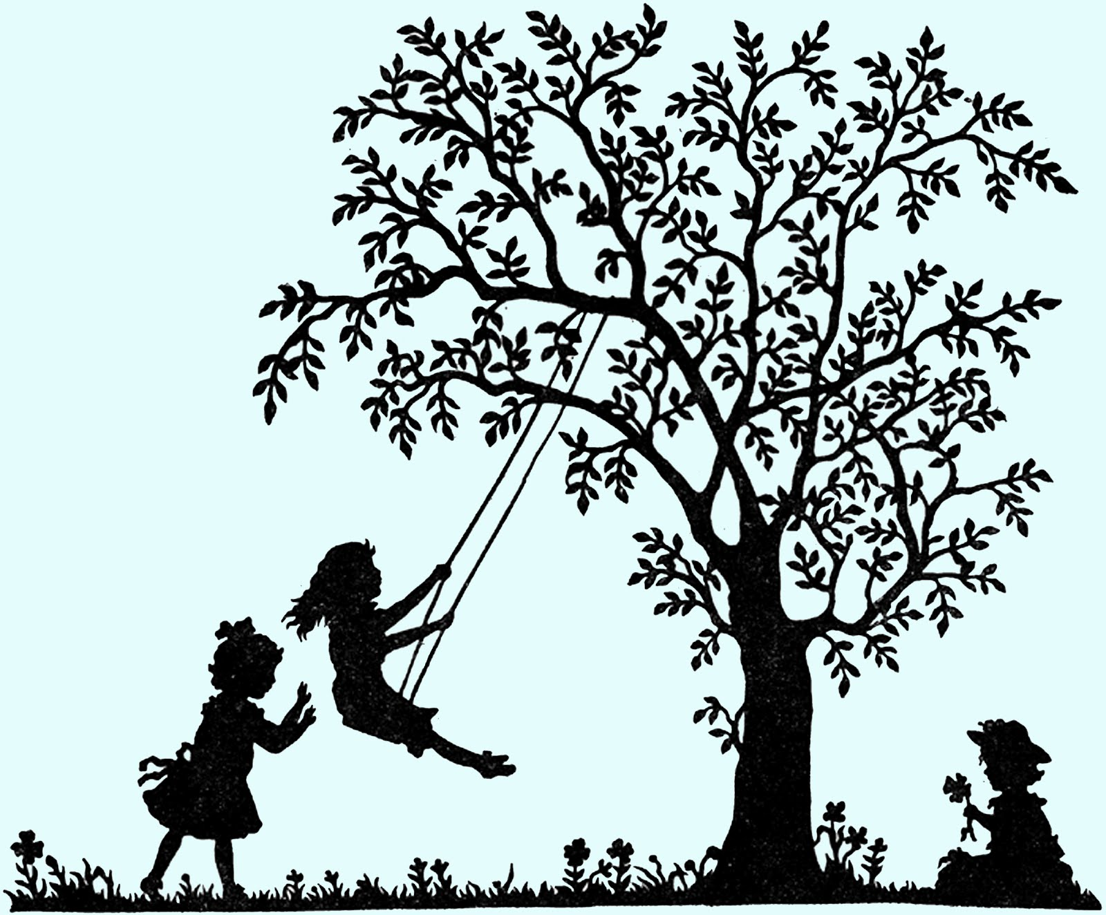 Free Digital Stamp - Swingin' Silhouette