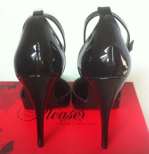 6 inch black patent sandals