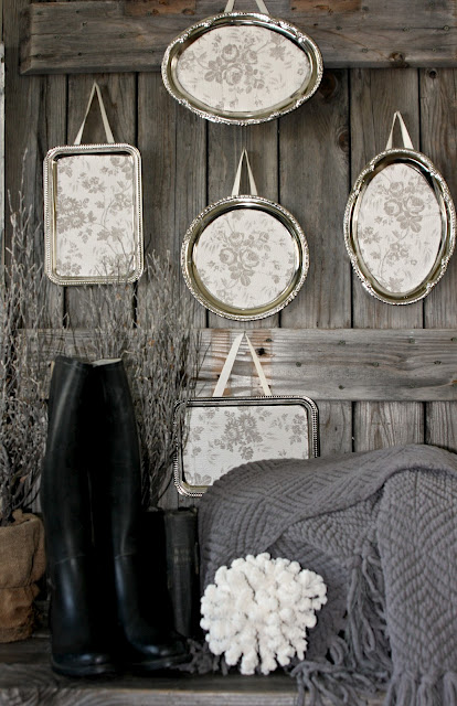 Metal platter wall art by Salvage Dior featured at I Love That Junk