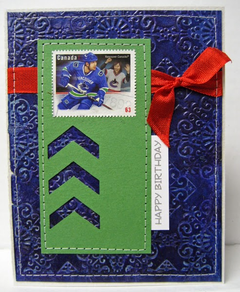 Just Do It!: Hockey Postage Stamp On A Birthday Card