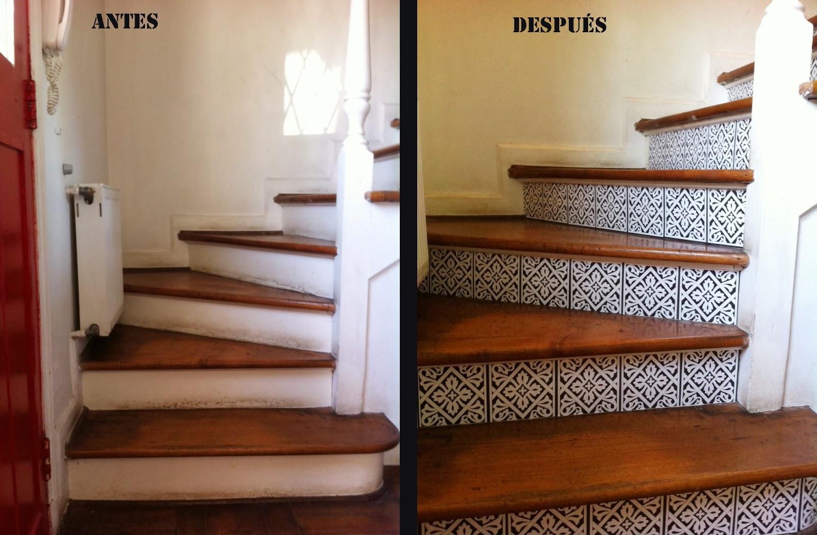 Baldosas para escaleras free palets con huellas para - Baldosas de madera ...