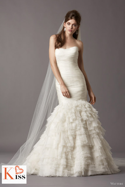 Watters 2013 Spring Organza Mermaid Wedding Dresses