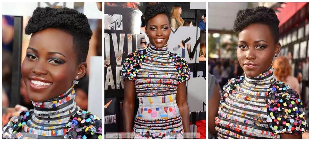 cortes pelo 2014 rizado Lupita Nyongo