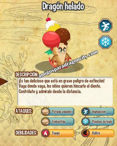 imagen de las caracteristicas del dragon helado