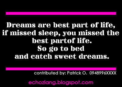 Dreams are the best part of life, if you missed sleep,  you missed the best part of life.