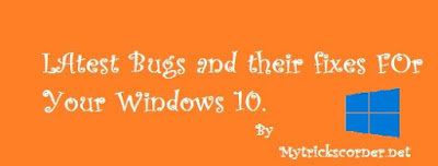 windows 10 bugs and their fixes