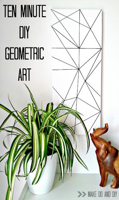easiest diy geometric art