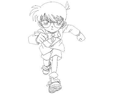#8 Detective Conan Coloring Page