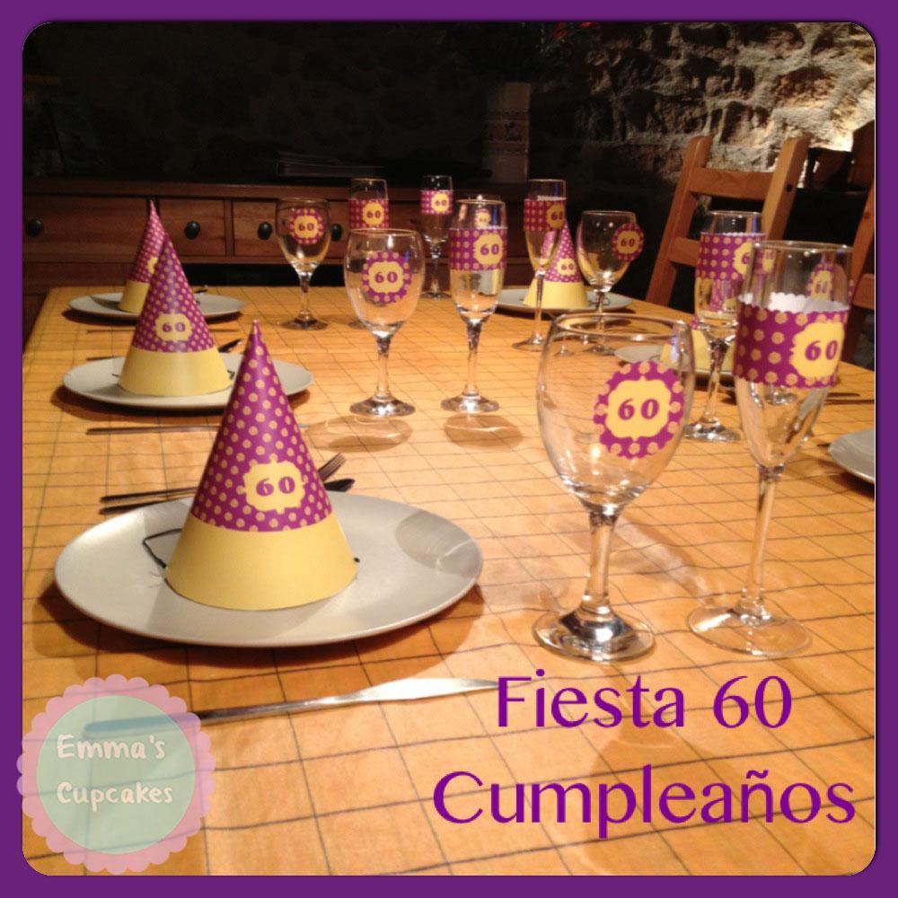 Emma 39 s cupcakes fiesta de 60 cumplea os y decoraci n para for Decoracion casa anos 60