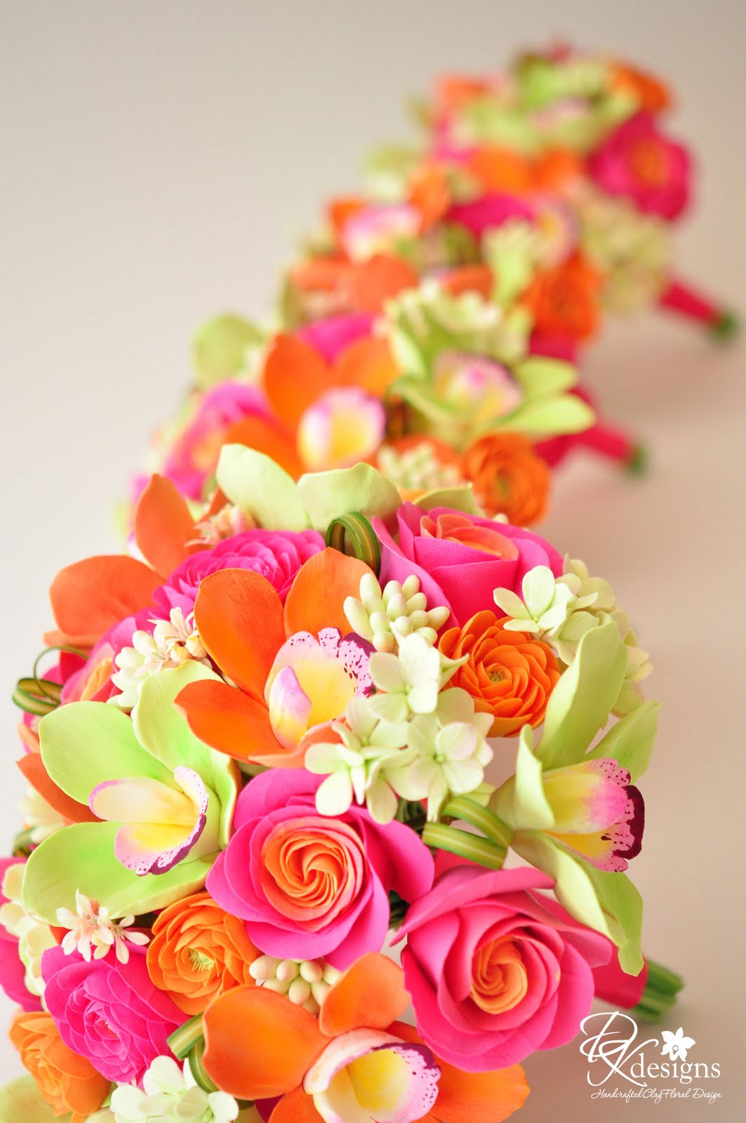 Pink Orange And Green Flowers For A Destination Wedding In Jamaica