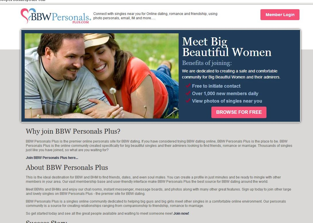 bbwpersonalsplus dating site