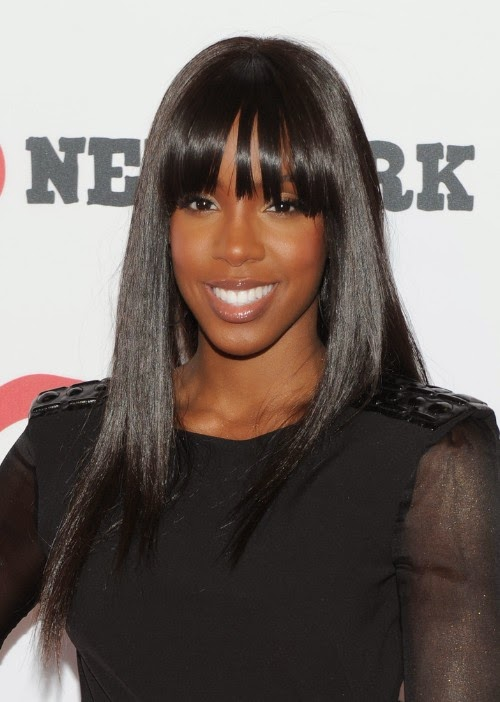 Long Sleek Black Hairstyle