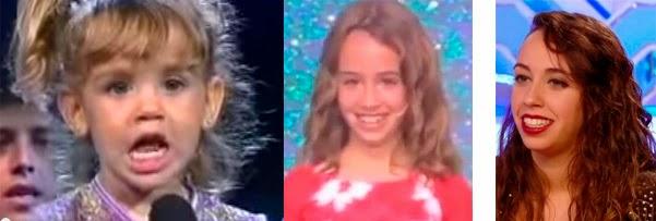 Antes y después de la niña que imitaba a Greta y los Garbo