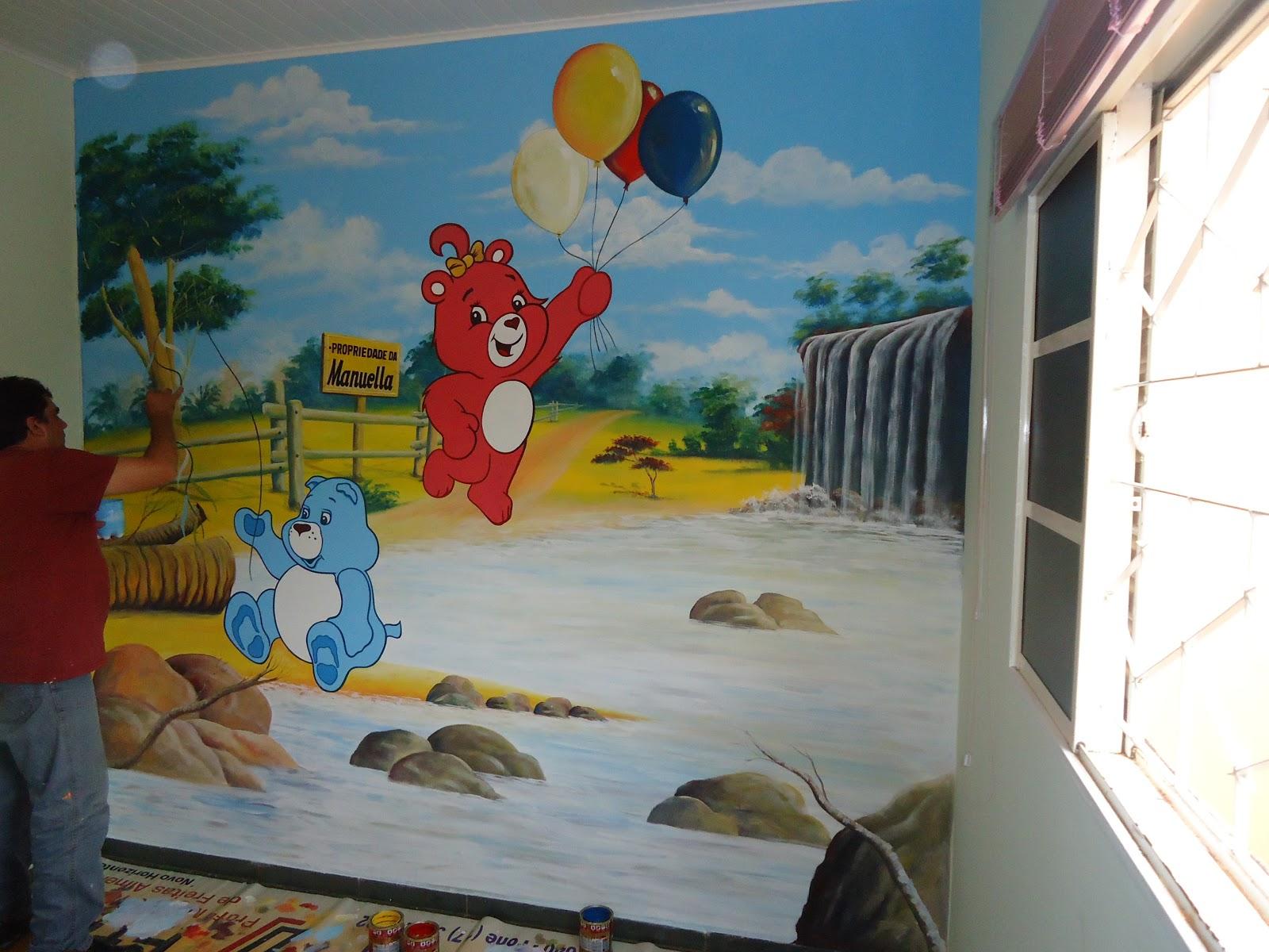 Desenho No Quarto ~ Guto Comunicaç u00e3o Visual pintura de desenho infantil no quarto da manuella