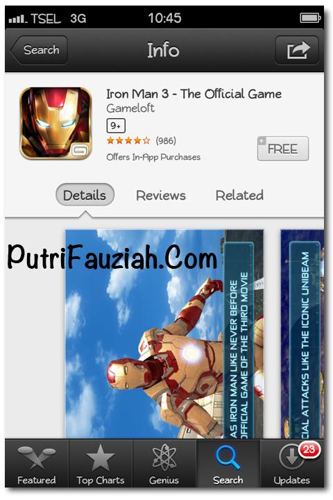 Gratis Download Game Iron Man 3 untuk iPhone Gratis di App Store